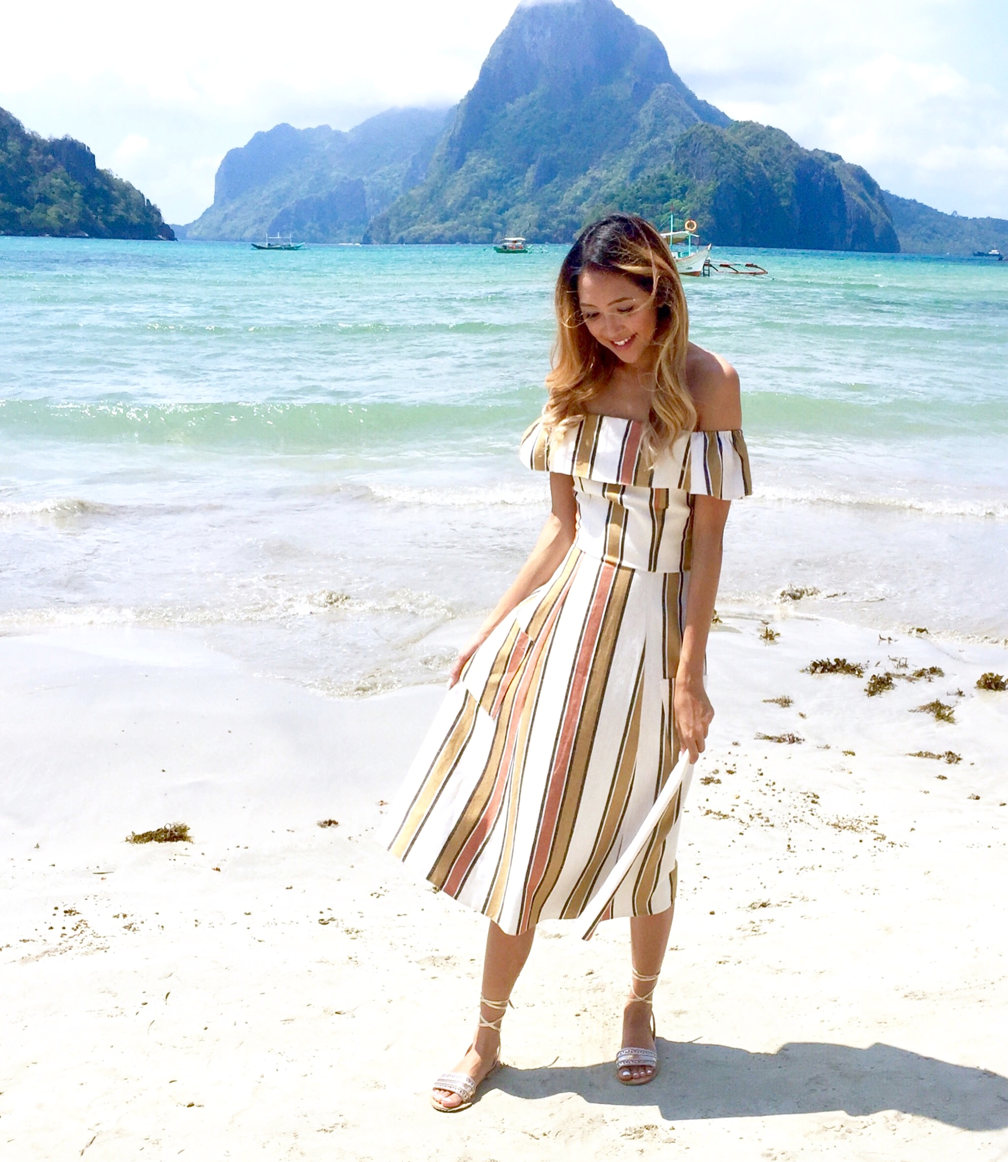 Beyond Basic Blog El Nido Palawan ASOS Striped Midi Sun Dress
