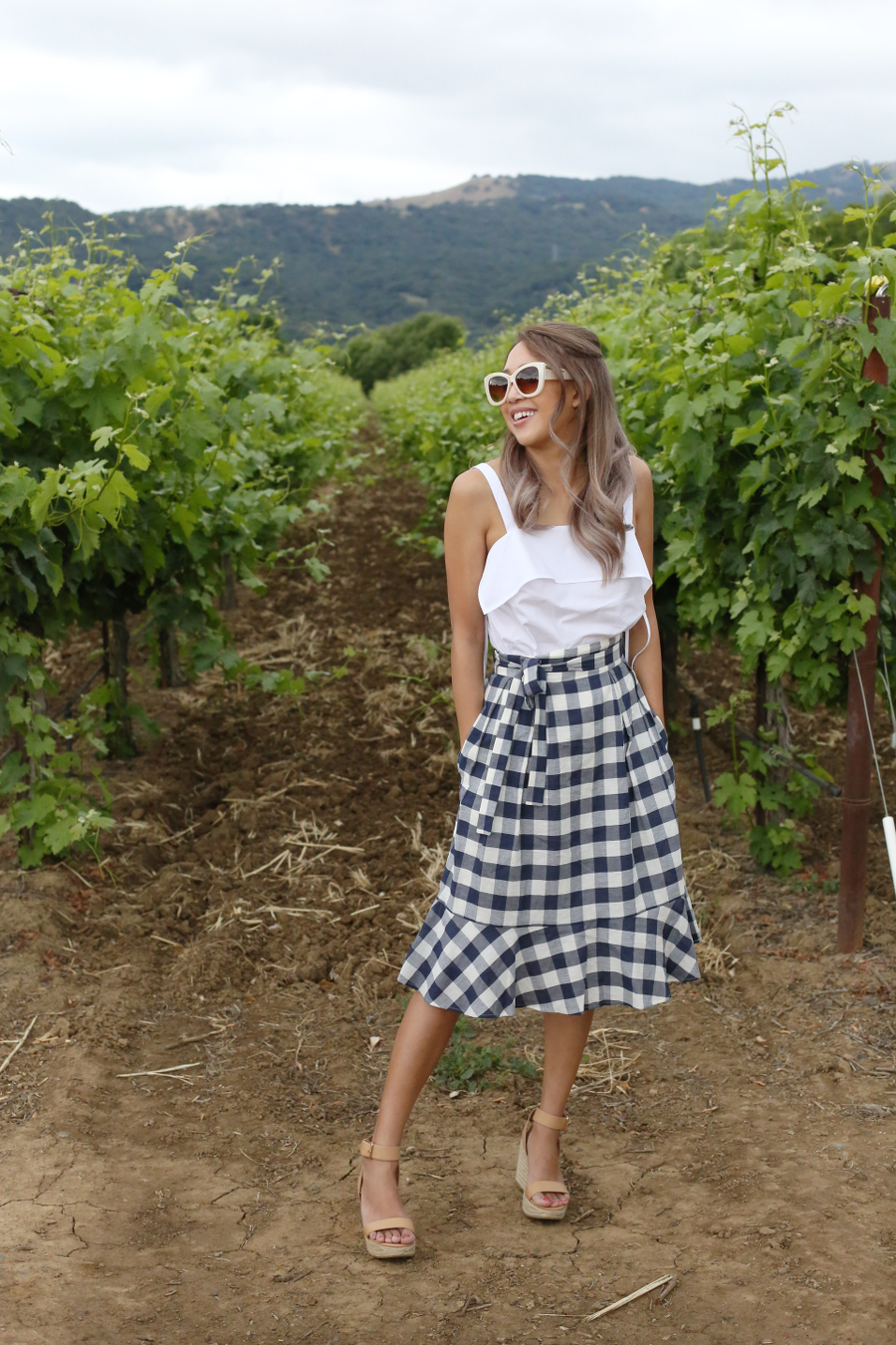 Beyond Basic Blog Gingham Style Club Monaco Plumina Skirt