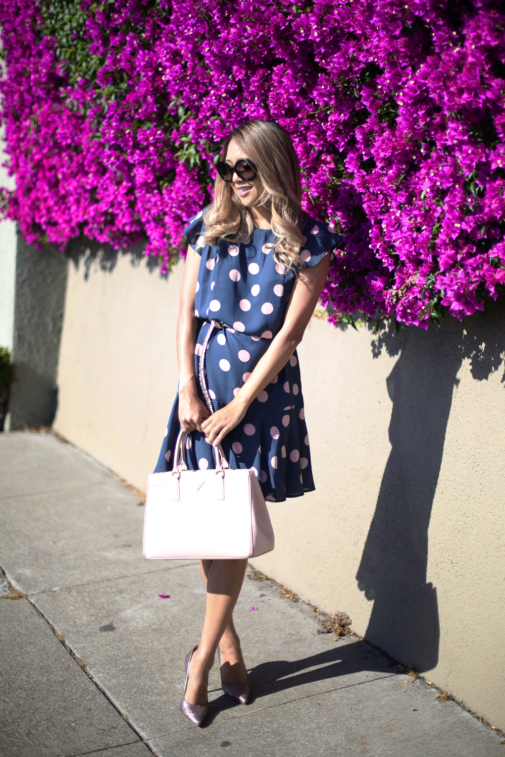 Beyond Basic Blog Loft Dot Flounce Dress Sausalito