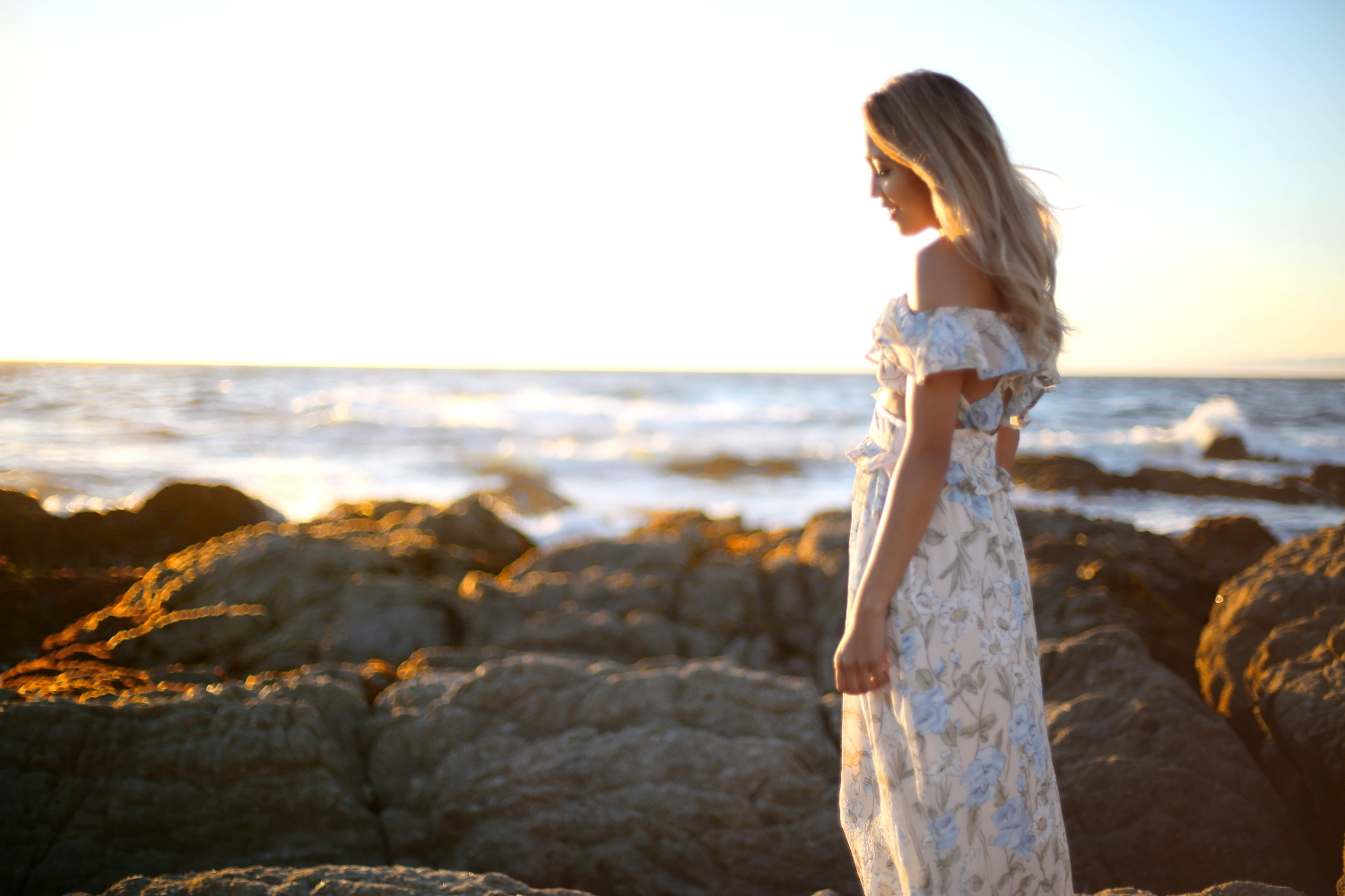 Beyond Basic Blog Wildest Dreams Carmel Monterey 17 Mile Drive California For Love and Lemons Cadence Dress