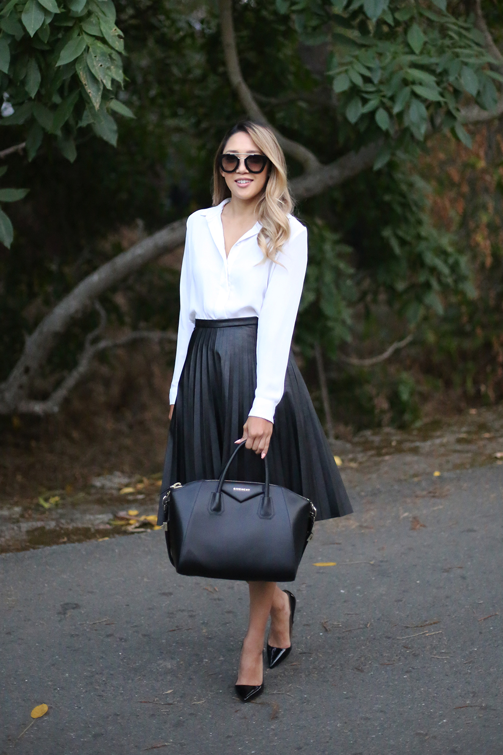 The Pleated Leather Skirt - Beyond Basic