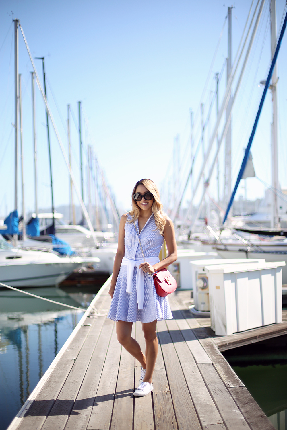 Beyond Basic Blog Seersucker in Sausalito Armani Exchange Shirt Dress