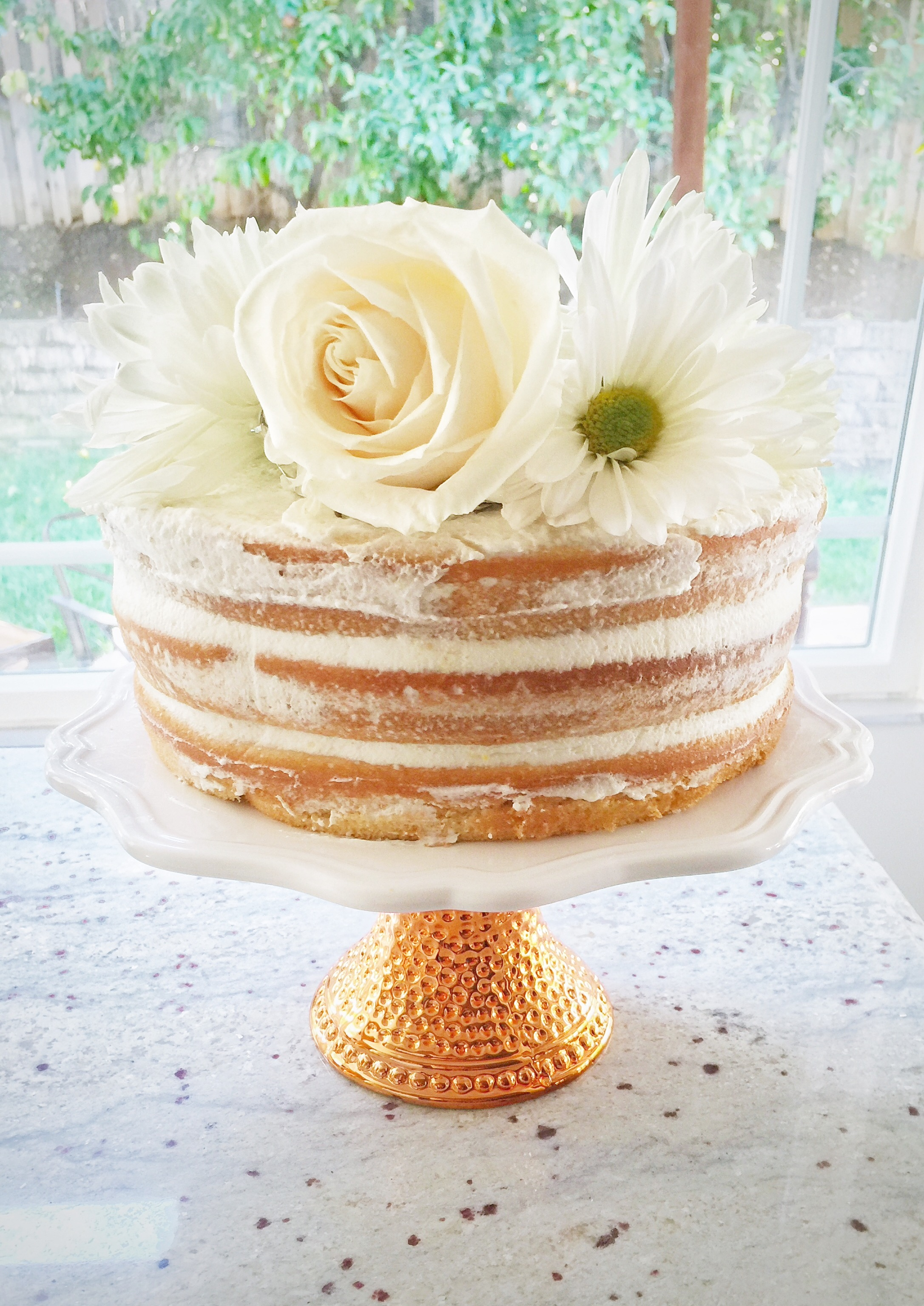 Naked Cake with Flowers by Beyond Basic Blog