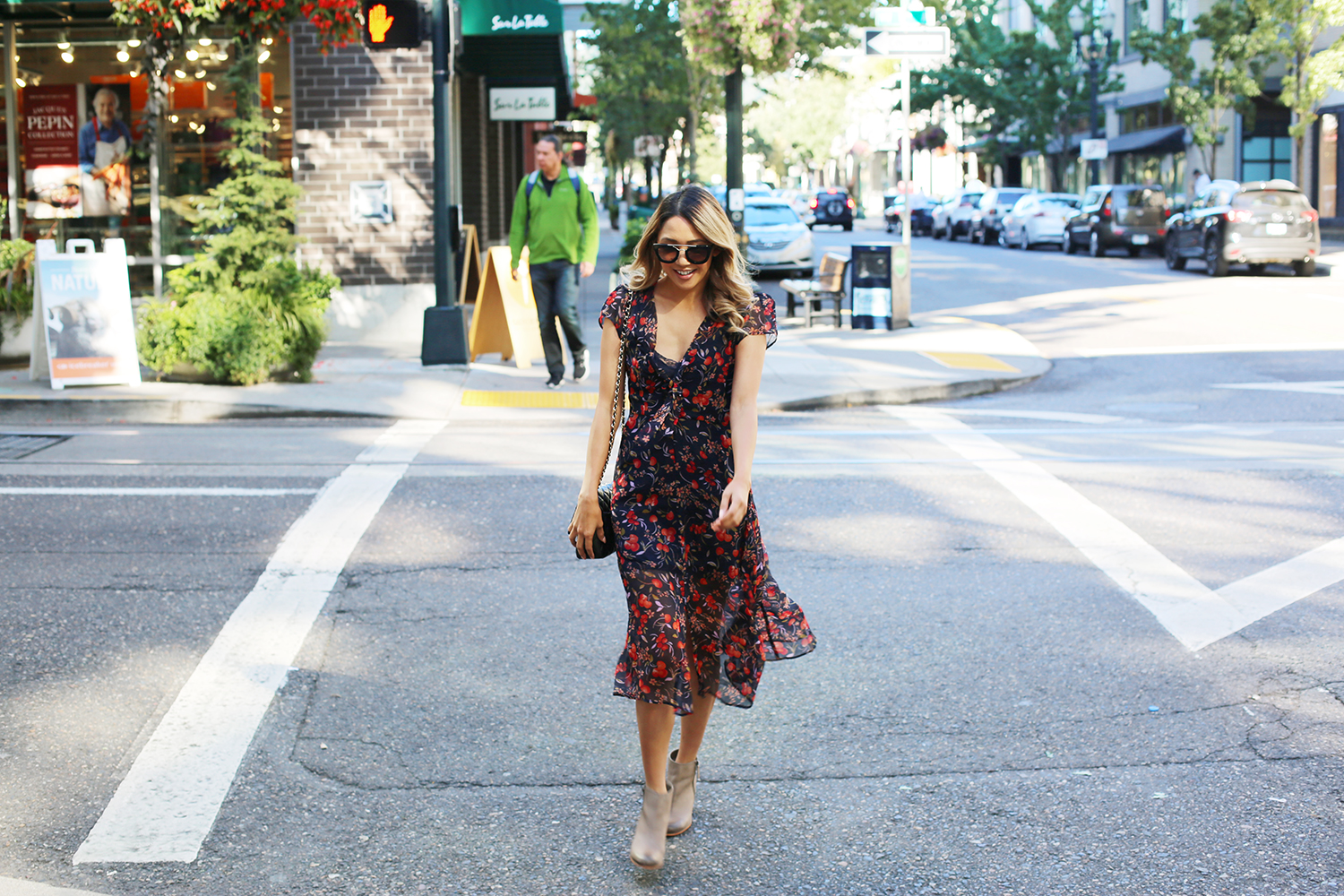 Beyond Basic Blog Downtown Portland Urban Outfitters Kimchi Blue Cordelia Tie Front Dress