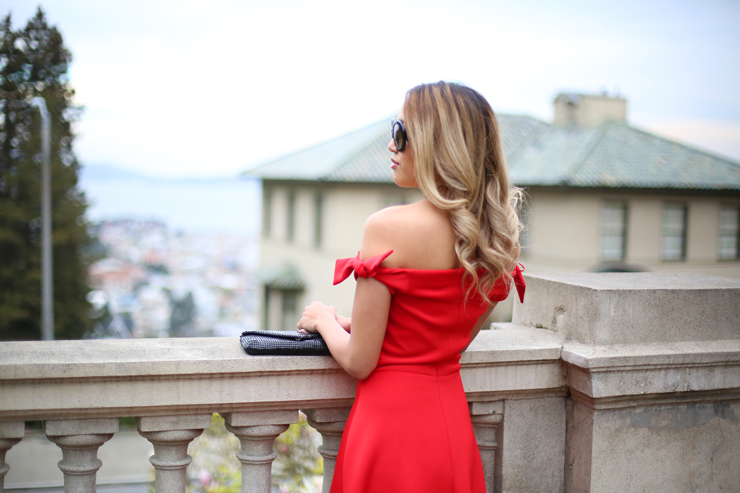 Beyond Basic Blog Saloni Ruth Red Off The Shoulder Dress