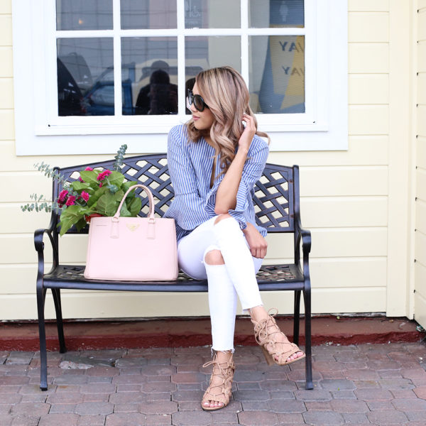 Beyond Basic Blog Spring Is Here Lulus Bell Sleeve Top White Jeans