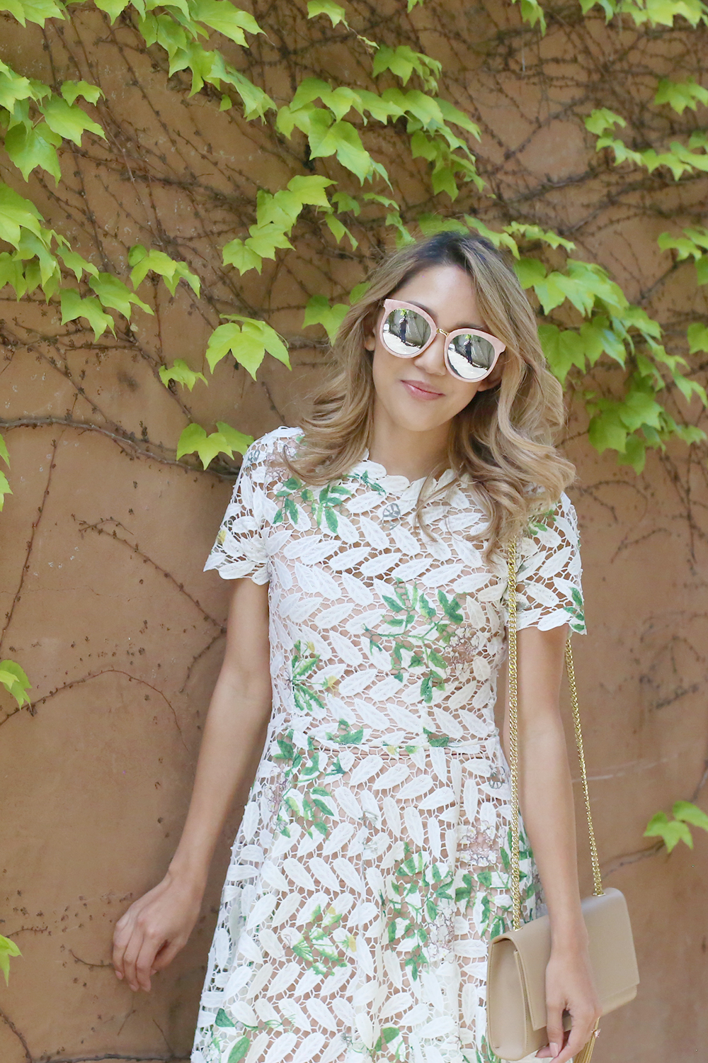 Beyond Basic Blog White Dresses for Spring Chicwish Wildflower Crochet Dress Gentle Monster Lovesome Sunglasses