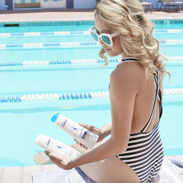 Beyond Basic Blog Summer Tips For Healthy Hair with Dove Shampoo and Conditioner