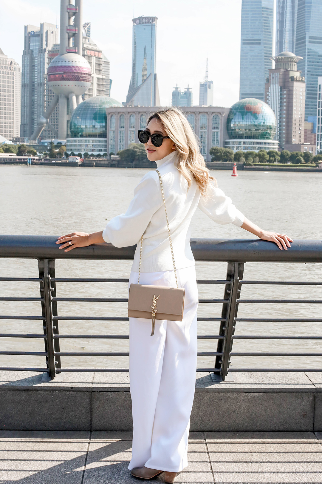 Beyond Basic Blog Shanghai China The Bund All White Outfit
